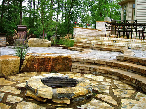 highland heights patio and firepit