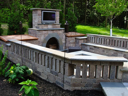customer paver patio and fire pit in macedonia ohio